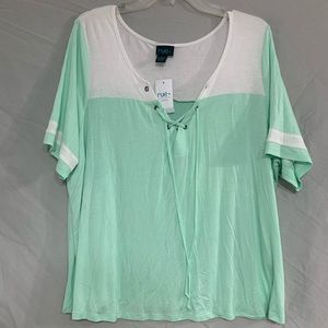 NWT Mint Green Short Sleeve Top